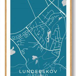 Lunderskov byplakat - blå