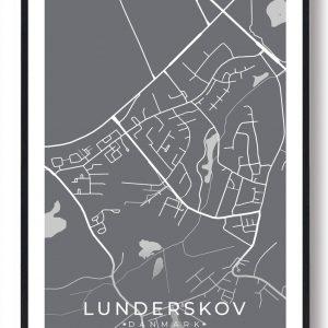 Lunderskov byplakat - grå