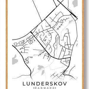 Lunderskov byplakat - hvid