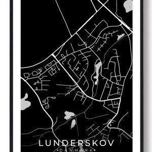 Lunderskov byplakat - sort