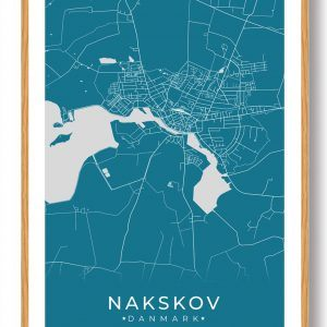 Nakskov plakat - blå