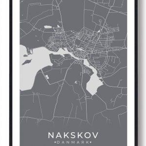 Nakskov plakat - grå