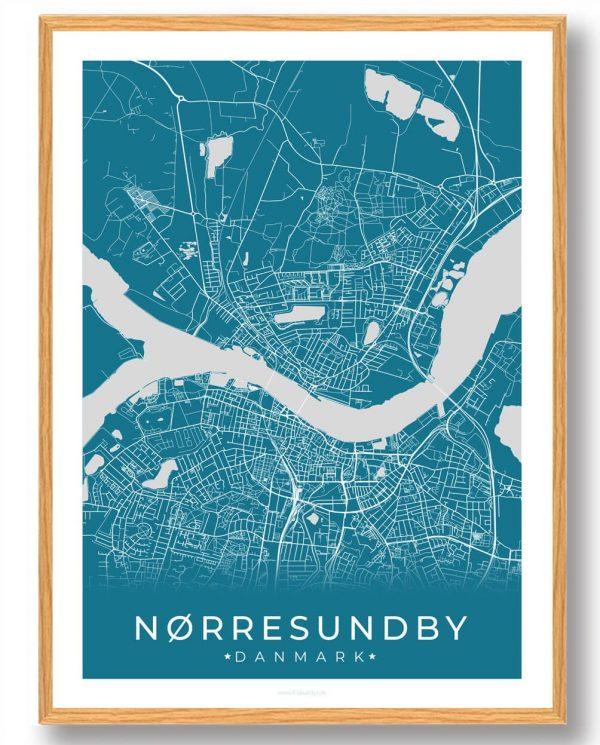 Nørresundby plakat - blå