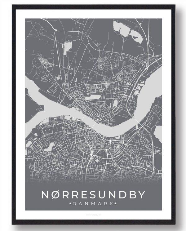 Nørresundby plakat - grå