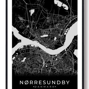 Nørresundby plakat - sort