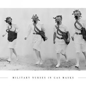 Nurses in gas masks - Plakat