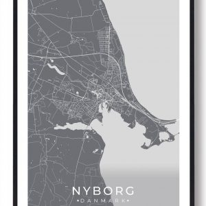 Nyborg plakat - grå