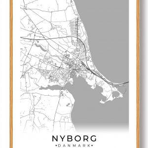 Nyborg plakat - hvid