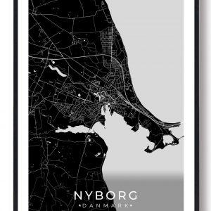 Nyborg plakat - sort