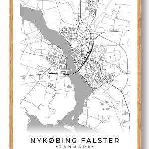 Nykøbing Falster plakat - hvid