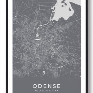 Odense plakat - grå