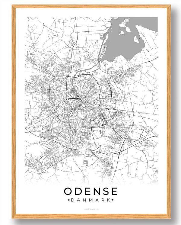 Odense plakat - hvid