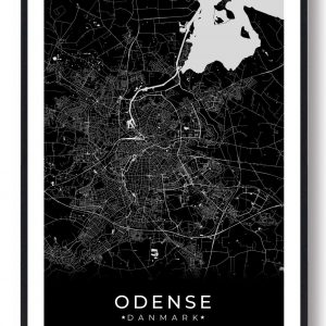 Odense plakat - sort