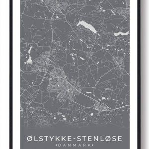 Ølstykke-Stenløse plakat - grå