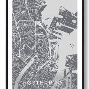 Østerbro plakat - grå
