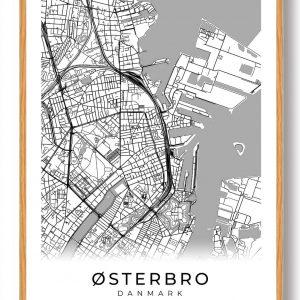 Østerbro plakat - hvid