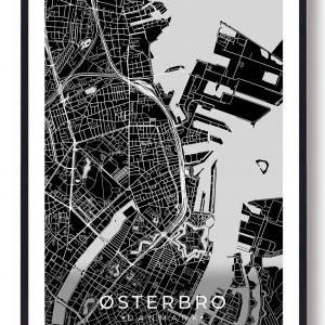 Østerbro plakat - sort