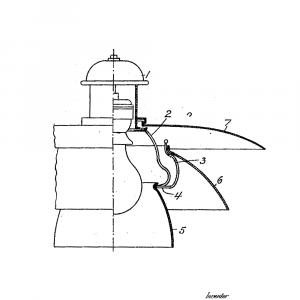 PH lampe plakat - Original patent tegning