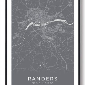 Randers plakat - grå