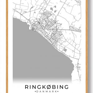 Ringkøbing plakat - hvid