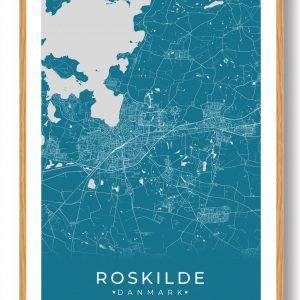 Roskilde plakat - blå