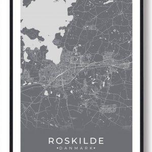 Roskilde plakat - grå