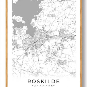Roskilde plakat - hvid