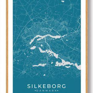 Silkeborg plakat - blå