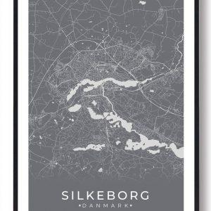 Silkeborg plakat - grå