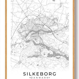 Silkeborg plakat - hvid