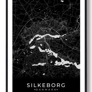 Silkeborg plakat - sort