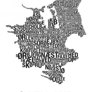 Sjælland plakat - By plakat