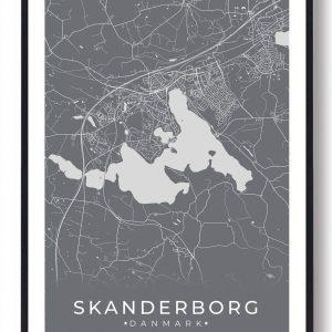 Skanderborg plakat - grå