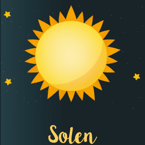 Solen - Planet plakat til børn