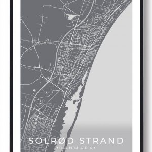 Solrød Strand plakat - grå