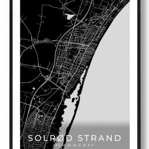 Solrød Strand plakat - sort