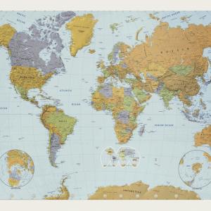 Stort verdenskort plakat
