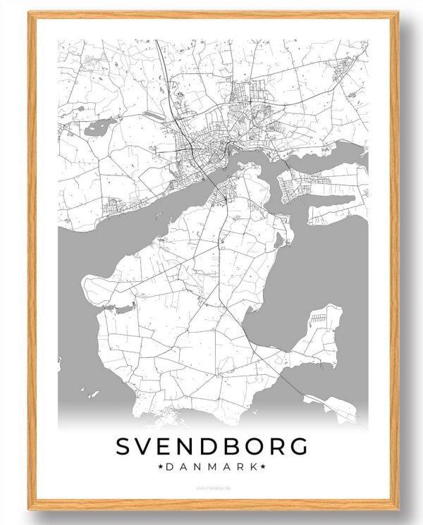 Svendborg plakat - hvid