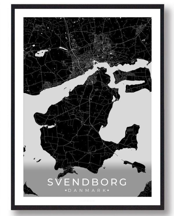 Svendborg plakat - sort