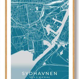 Sydhavnen plakat - blå