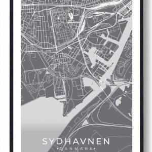 Sydhavnen plakat - grå