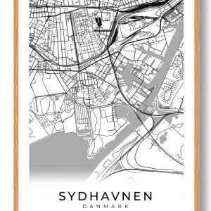 Sydhavnen plakat - hvid