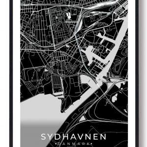Sydhavnen plakat - sort