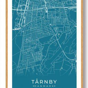 Tårnby plakat - blå