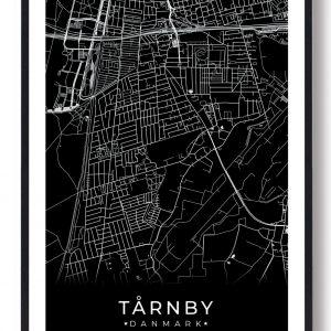 Tårnby plakat - sort