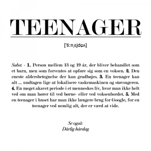 Teenager definition - plakat