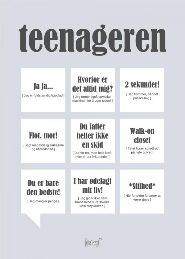 Teenageren plakat