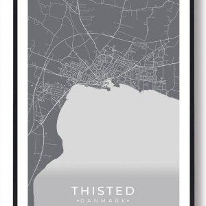 Thisted plakat - grå