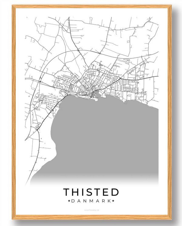 Thisted plakat - hvid
