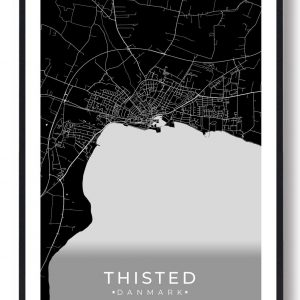 Thisted plakat - sort